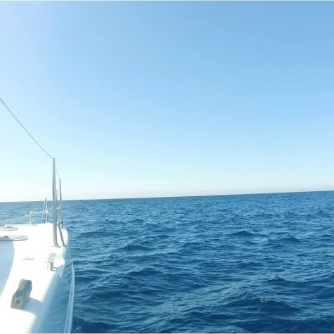 Catamaran in het paradijs